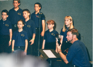 The South Olive Elementary Tiger Chorus Recording in TV/Radio Studio 33 at Universal Studios in Orlando Florida, InTuneWithYou.com