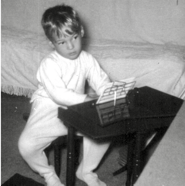 Charles Van Deursen at Three Years old, by Dianne Hutchins. www.InTuneWithYou.com